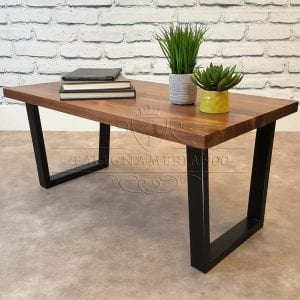 Nature Style: tavolino da salotto in legno massello e ferro