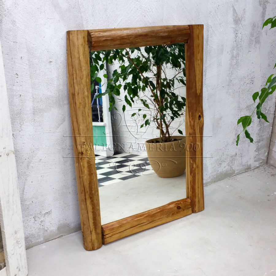 Specchio rustico in legno massello eto falegnameria900 - Configuratore 3d bagno ...