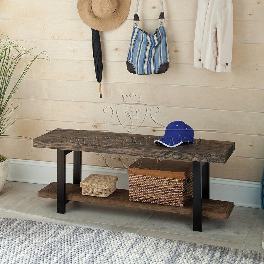 Rustic Style: tavolino panca in legno massello e ferro