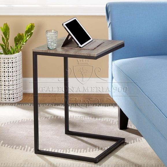 Design Style: tavolino da salotto in ferro e legno massello