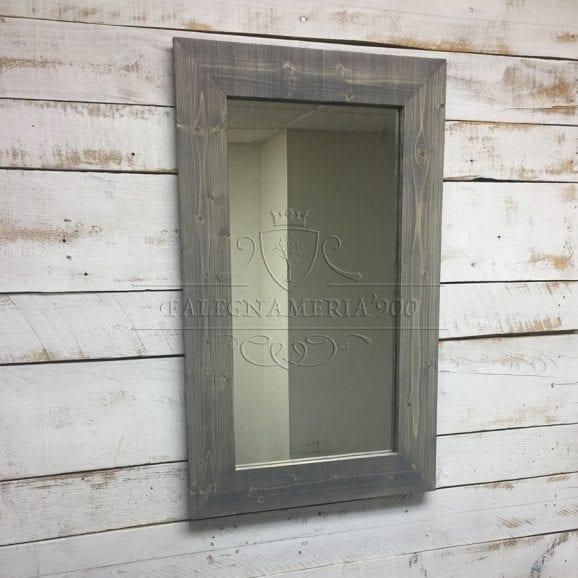 Cornice specchio vintage in legno massello