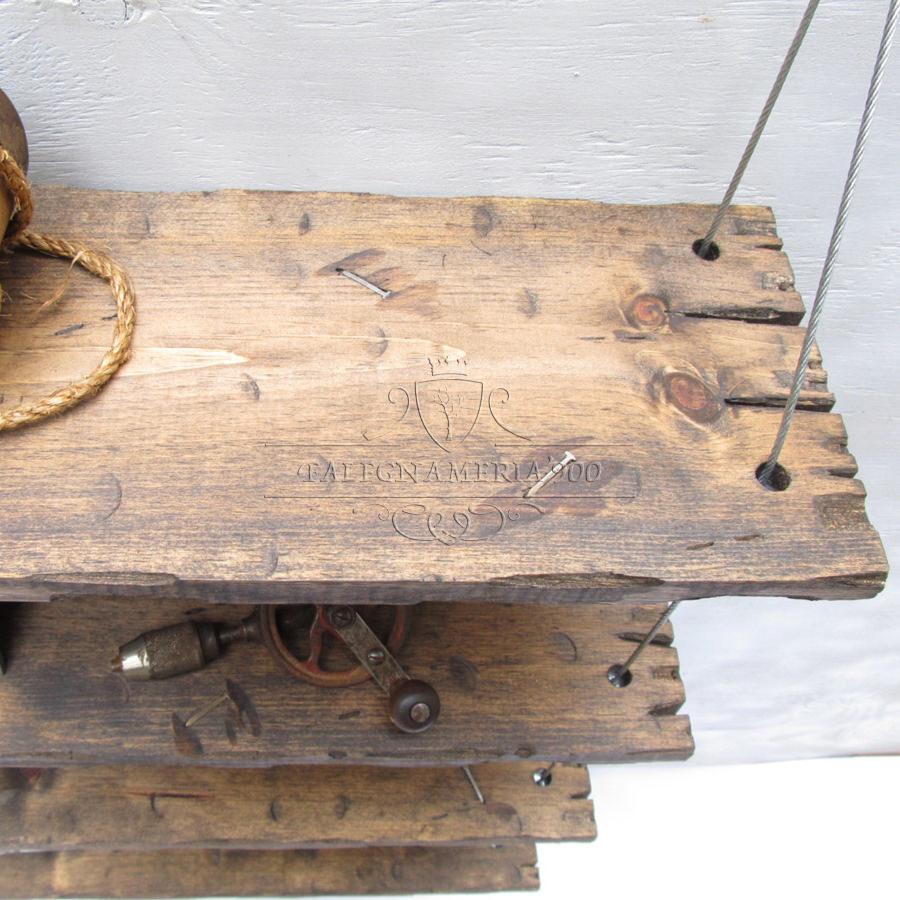 Bijoux Set di 4 mensole con cavi | Falegnameria900