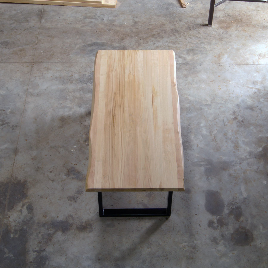 Tavolo legno massello chiaro gambe in ferro