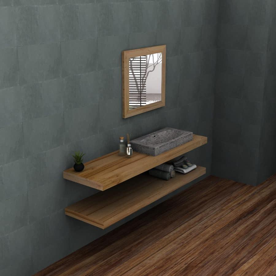 Mensole bagno legno massello alessia falegnameria900 - Configuratore 3d bagno ...
