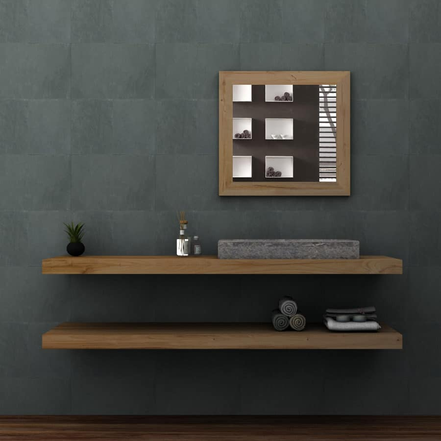 Mensole bagno legno massello moderno