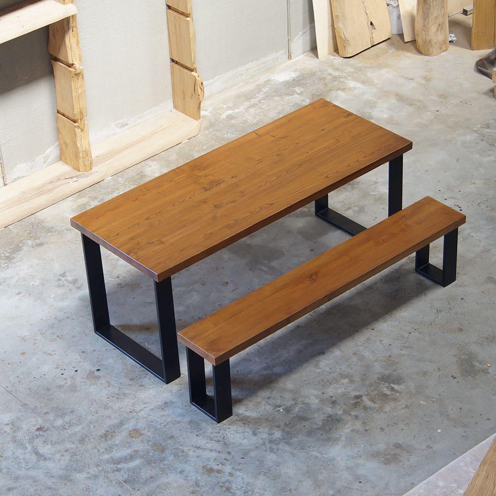 Impero tavolo in legno massello e gambe in ferro falegnameria900 - Tavoli in legno massello rustici ...