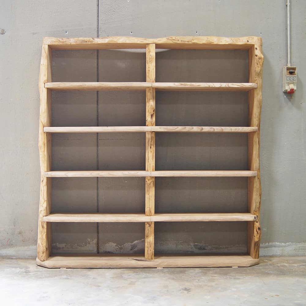 Libreria legno massello di castagno - Wood Big | Falegnameria900