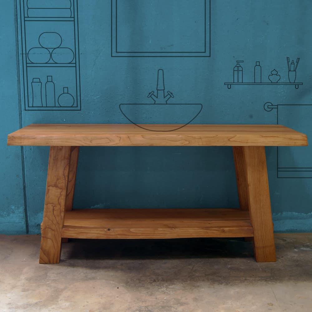 Falegnameria900 prodotti in legno massello su misura for Mobile bagno legno