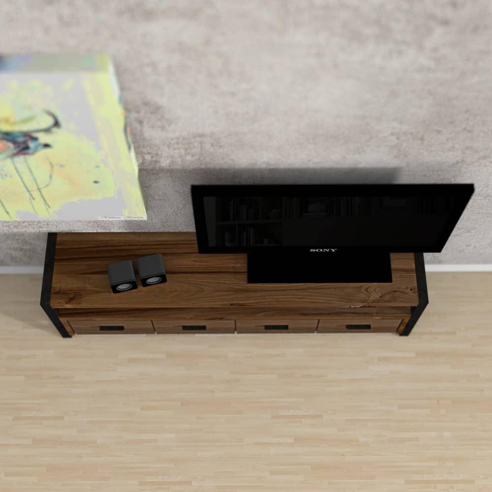 Mobile porta tv in legno massello philip mobile tv rustico su misura - Porta in legno massello ...
