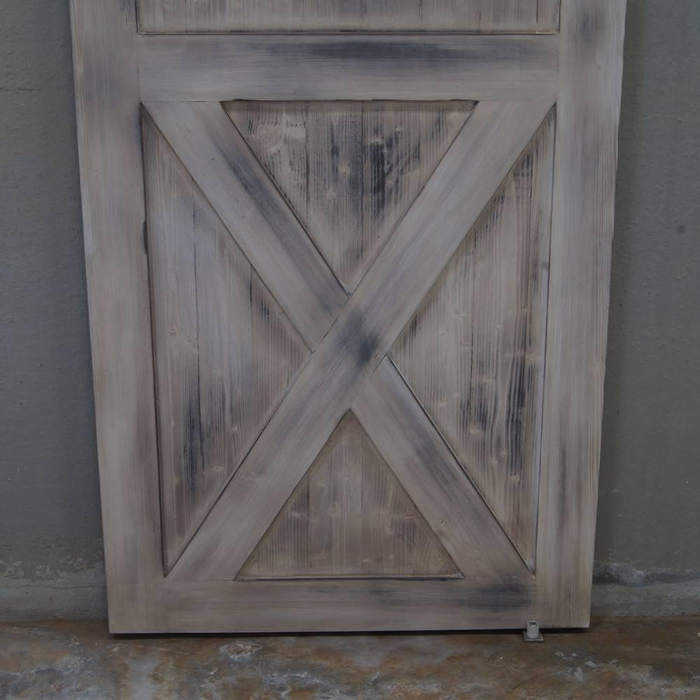 Porta scorrevole in legno massello Barn Door Vintage in offerta.