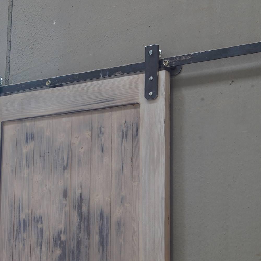 Porta scorrevole in legno massello barn door vintage in offerta - Porta in legno massello ...