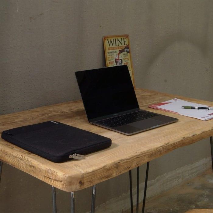 Tavolo consolle legno massello e gambe in ferro
