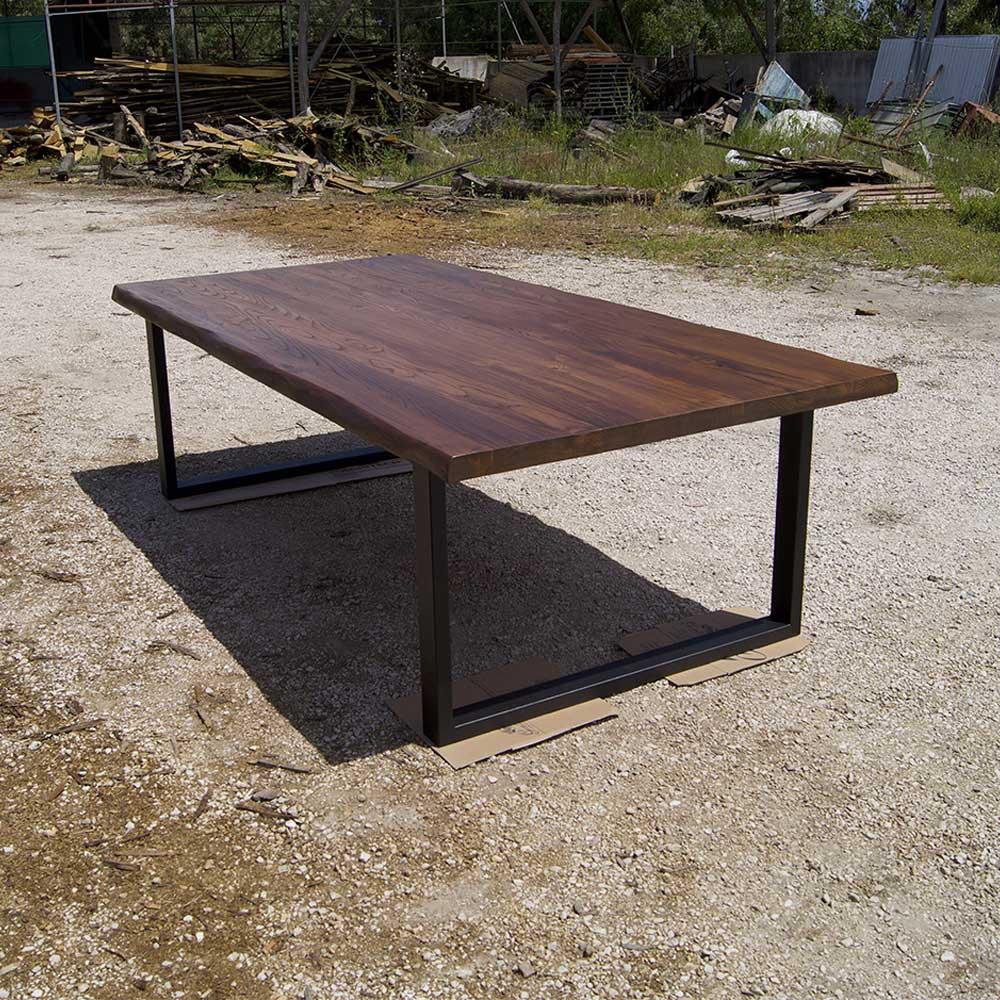 Tavolo in legno massello per sala riunioni impero big falegnameria900 - Tavoli in legno massello rustici ...