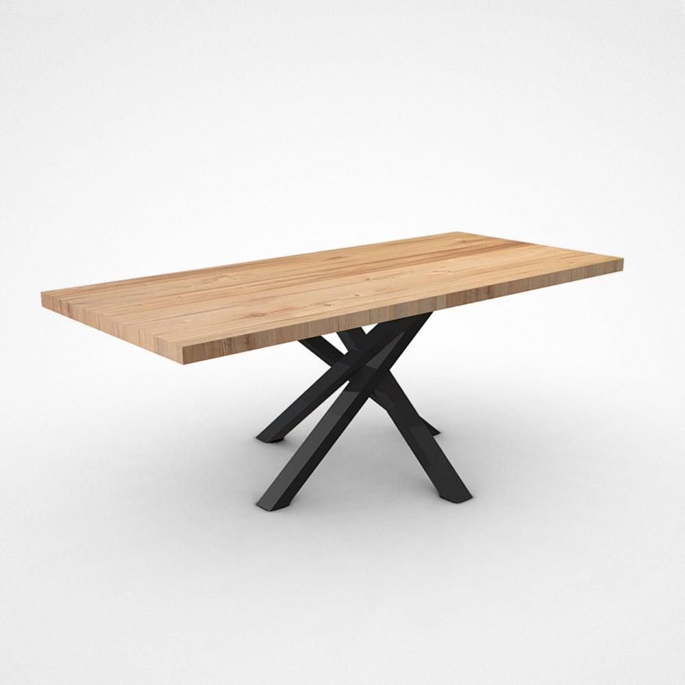 Tavolo Con Gamba Centrale tavolo in legno massello di design con gamba centrale. shang. |  falegnameria900 - mobili in legno su misura