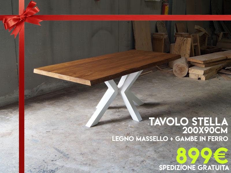 Tavoli in legno massello in offerta