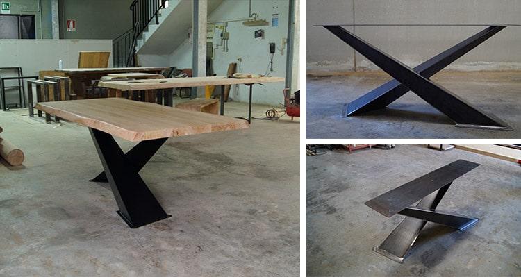 Gambe per tavoli in legno moderno