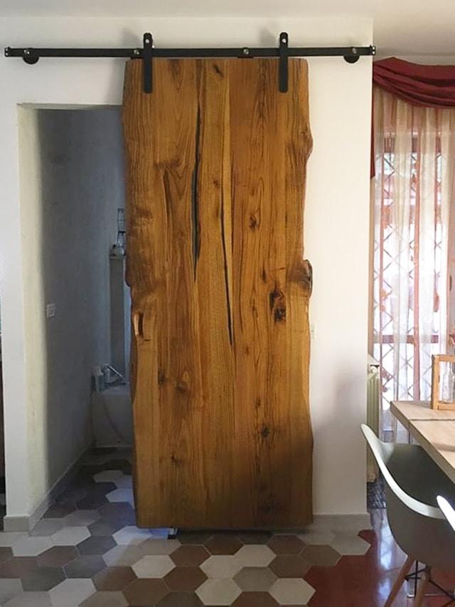 Barn Doors in legno massello di castagno