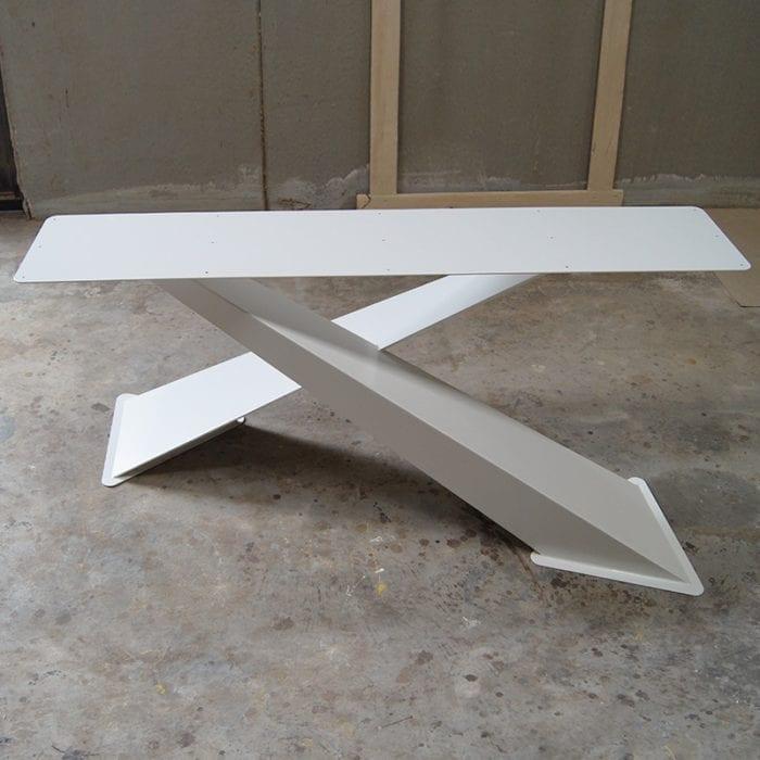 Gambe X Design per Tavoli in Legno Massello