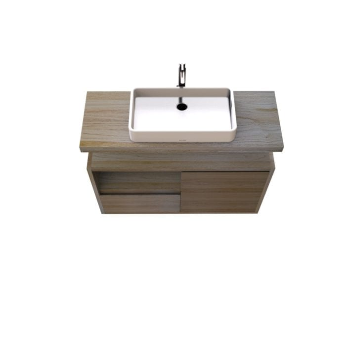 Mobile da bagno sospeso da 110cm
