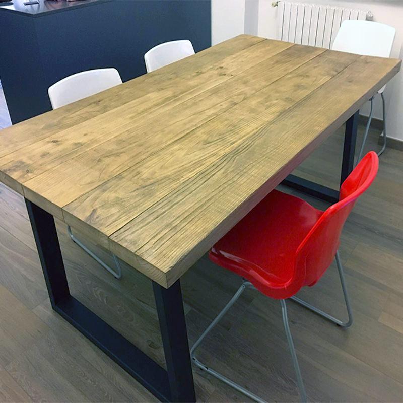 Tavolo in legno massello stile rustico modello west falegnameria900 - Tavoli in legno massello rustici ...