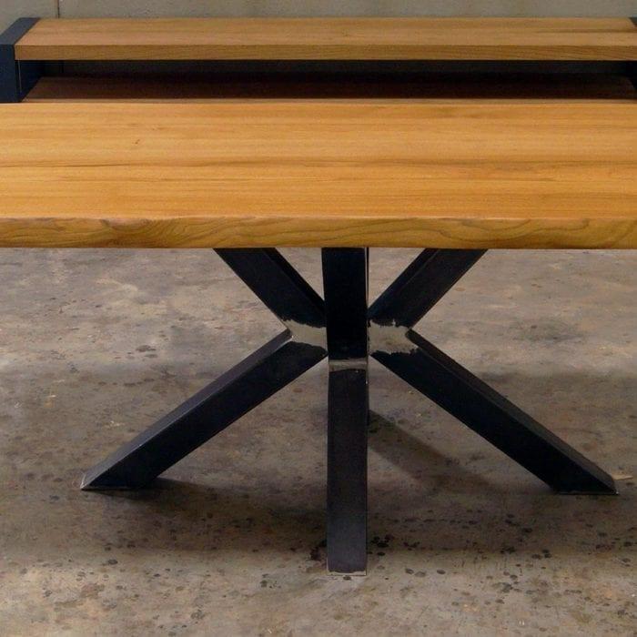 Gambe in ferro per tavoli in legno