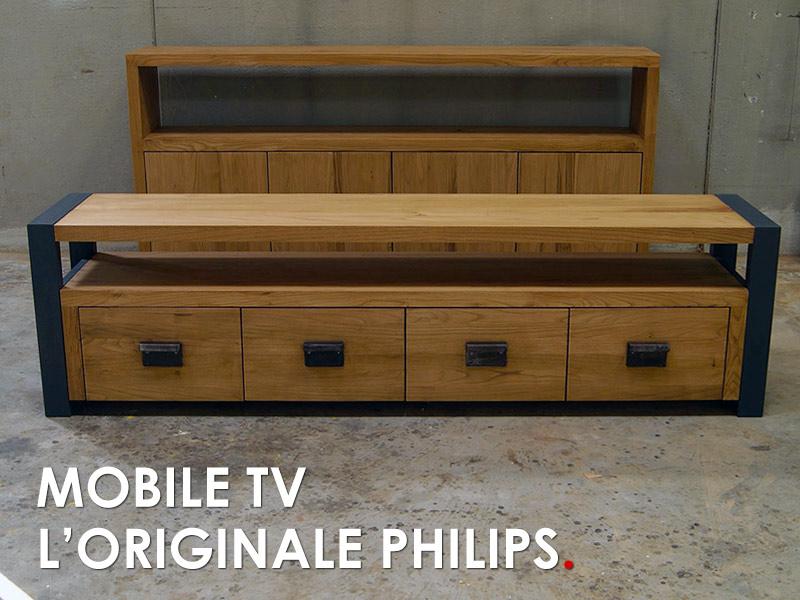 Mobile TV arredamento legno massello