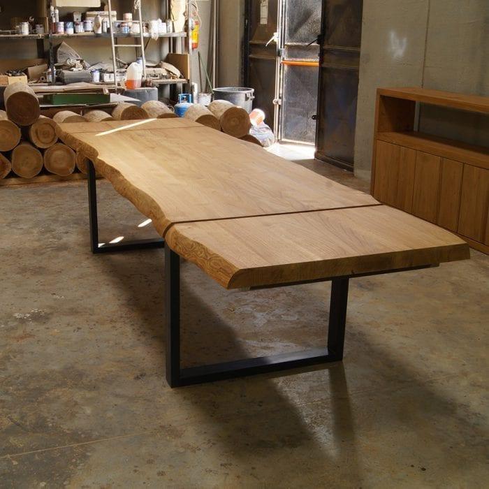 Tavolo allungabile in legno massello modello Impero Naturale    Falegnameria900 - Mobili in legno su misura