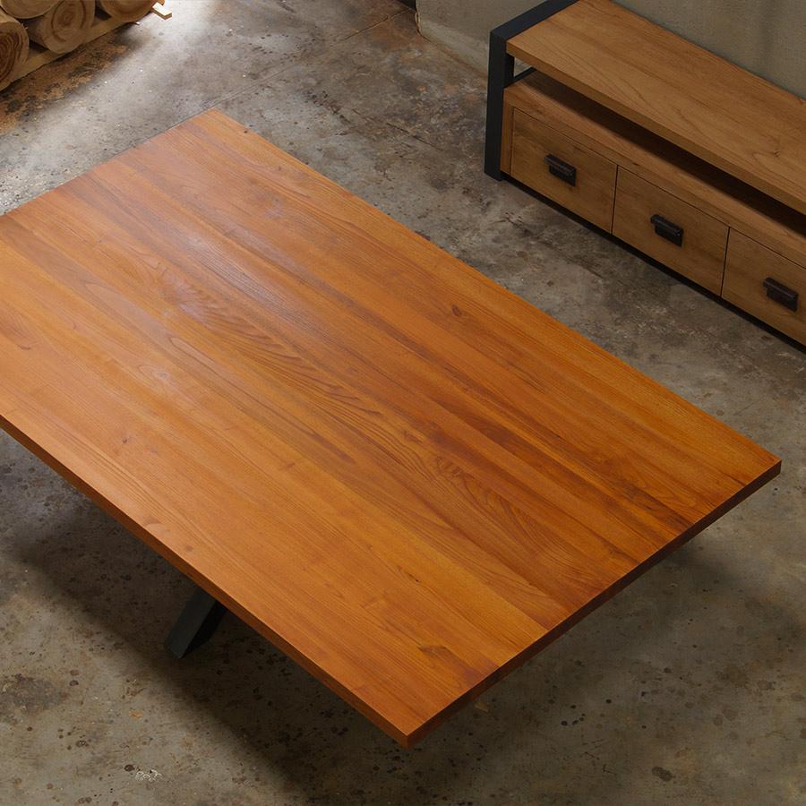 Tavolo Con Gamba Centrale tavolo extra larte in legno massello con gamba a stella. falegnameria900