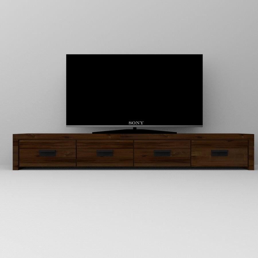 Mobile porta TV in legno massello di castagno su misura