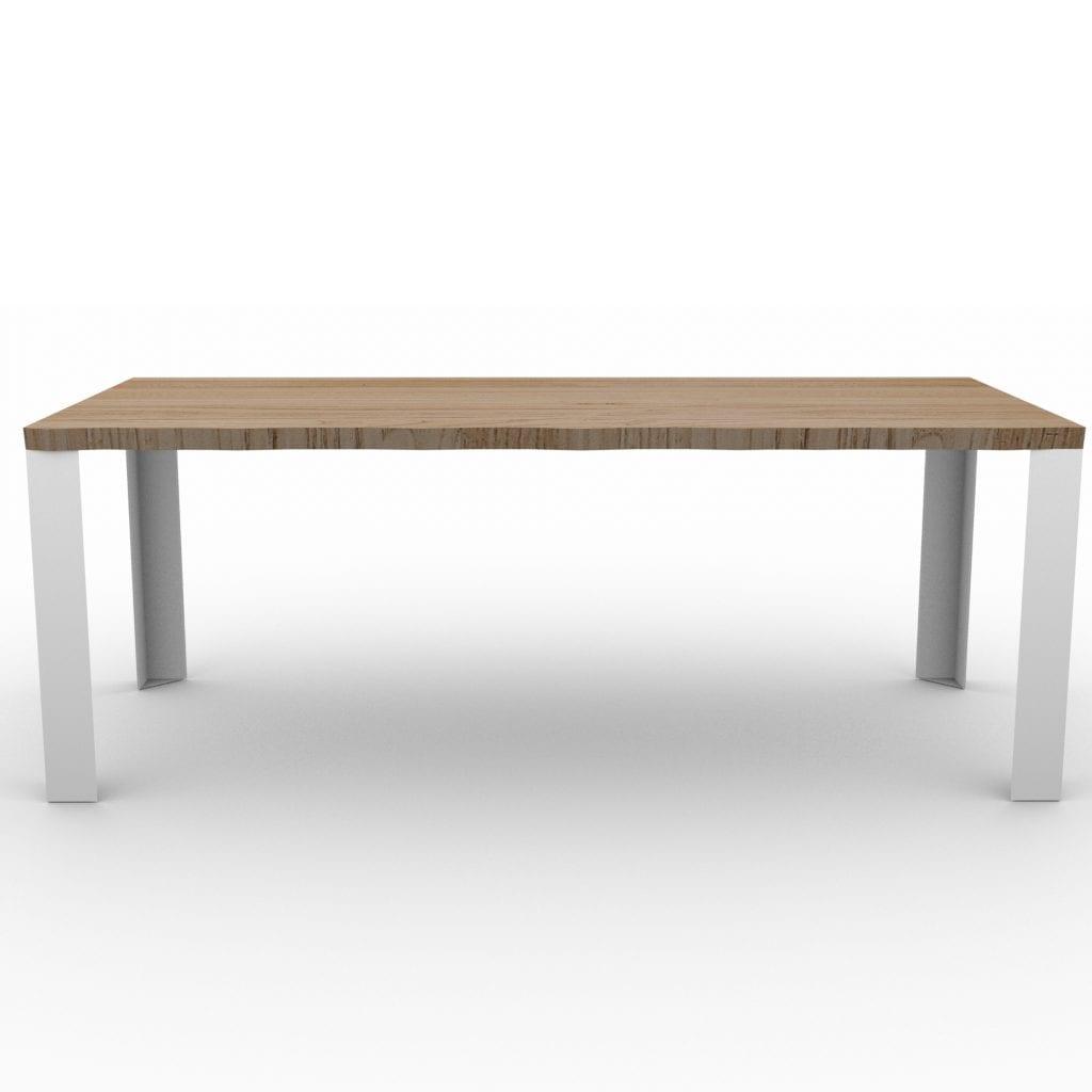 Tavolo in legno massello con gambe in ferro Robert