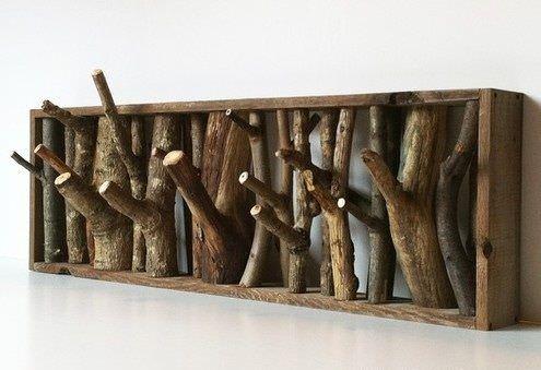 25 idee creative per il vostro appendiabiti in legno